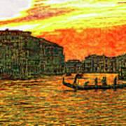 Venice Eventide Art Print