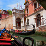 Venice From A Gondola Art Print