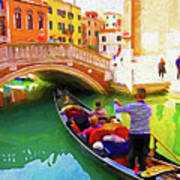 Venice Gondola Series #1 Art Print