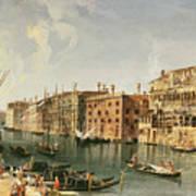 Venice, Grand Canal And The Fondaco Dei Turchi  Art Print