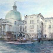 Venice Grand Canal Watercolour  Art Print