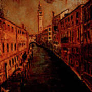 Venice In Golden Sunlight Art Print