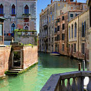 Venice Italy Canal And Lovely Old Houses Art Print