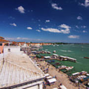 Venice Lagoon Panorama - Bird View Art Print