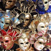 Venice Masks Art Print