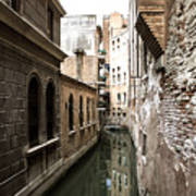 Venice One Way Street Art Print by Milan Mirkovic