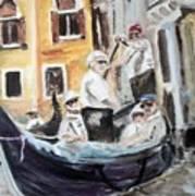 Venice Party Art Print