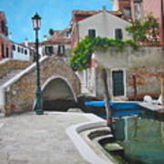 Venice Piazzetta And Bridge Print by Italian Art