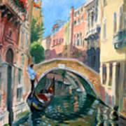 Venice Ponte Widmann Art Print