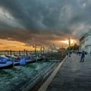 Venice Promenade Art Print