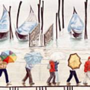 Venice Rain Art Print