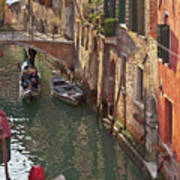 Venice Ride With Gondola Art Print