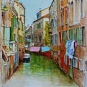 Venice Washing Day Art Print