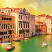 Venice Water Taxis Art Print