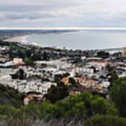 Ventura Coast Skyline Art Print