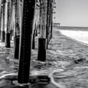 Ventura Pier Bxw Art Print