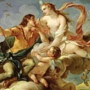 Venus And Adonis  Art Print by Charles Joseph Natoire