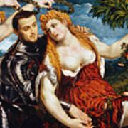 Venus, Mars & Cupid Art Print