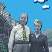 Vera And Al As The Simpsons Art Print