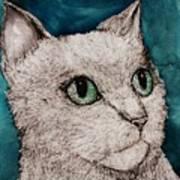 Verde Eyes Art Print