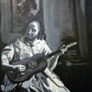 Vermeer Guitar Player Art Print