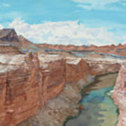 Vermilion Cliffs Standing Guard Over The Colorado Art Print