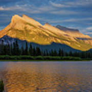 Vermillion Lakes And Mt Rundle Art Print