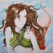 Vermillion Mermaid Art Print