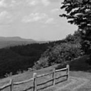 Vermont Countryside 2006 Bw Art Print