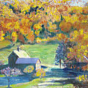 Vermont Farm Art Print by Lyn Vic