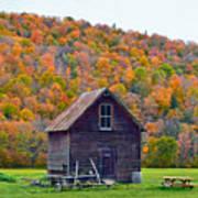 Vermont Garden Shed In Autumn Art Print
