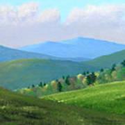 Vermont Pastures Art Print