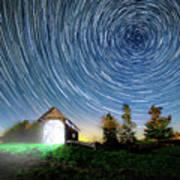 Vermont Starry Night Art Print