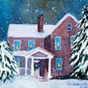 Vermont Studio Center In Winter Art Print