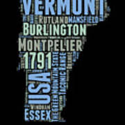 Vermont Word Cloud 1 Art Print