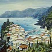 Vernazza Cinque Terre Italy Art Print by Marilyn Dunlap
