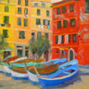 Vernazza Fleet Art Print