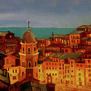 Vernazza Twilight Art Print
