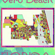 Vero Beach Map4 Art Print