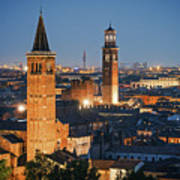 Verona At Night Art Print