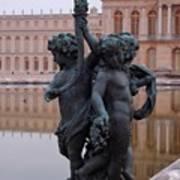 Versailles Reflection Pool Art Print