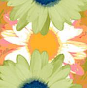 Vertical Daisy Collage II Art Print