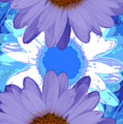 Vertical Daisy Collage Art Print