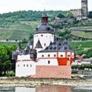 Vertical Vineyards and Buildings on the Rhine Art Print