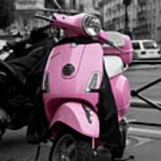 Vespa In Pink Print by Edward Myers