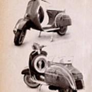 Vespa Scooter 1969 Art Print