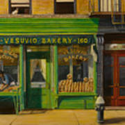 Vesuvio Bakery In New York City Art Print