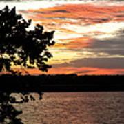 Veteran's Lake Sunset Art Print