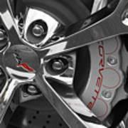 Vette Wheel Print by Dennis Hedberg