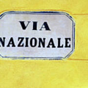 Via Nazionale Art Print